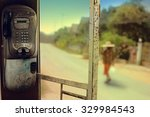 Old Public Telephone Booth With ...