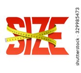 Stock vector squeezed size word concept vector 329985473