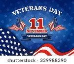veterans day badge and... | Shutterstock .eps vector #329988290