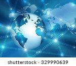best internet concept. globe ... | Shutterstock . vector #329990639