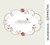 vintage floral frame with a... | Shutterstock .eps vector #329990744