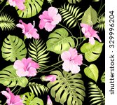 seamless pattern of tropical... | Shutterstock .eps vector #329996204