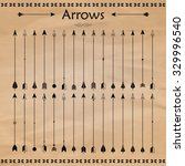 set of different arrows on the... | Shutterstock . vector #329996540