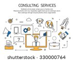 consulting services outline... | Shutterstock .eps vector #330000764