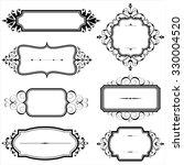 vintage frames with scrolls  ... | Shutterstock .eps vector #330004520