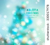 vector christmas tree  blurred... | Shutterstock .eps vector #330017978