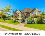 luxury house at sunny day in... | Shutterstock . vector #330018638