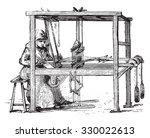 loom  vintage engraved... | Shutterstock .eps vector #330022613