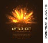 Abstract Holiday Light Rays...