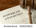 Stock photo power of attorney legal document 330024863