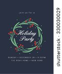 holiday party invitation with... | Shutterstock .eps vector #330030029