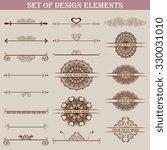 set of design elements. vector... | Shutterstock .eps vector #330031010