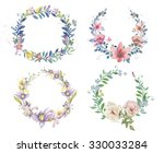 watercolor flowers  | Shutterstock . vector #330033284
