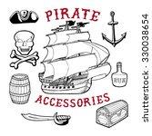 56 pirate accessories. handmade ...   Shutterstock .eps vector #330038654