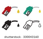 fuel nozzle and oil drop  oil... | Shutterstock .eps vector #330043160
