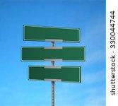 blank green road sign. vector...   Shutterstock .eps vector #330044744