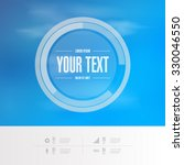 abstract round text box design... | Shutterstock .eps vector #330046550