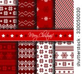 collection of seamless patterns ... | Shutterstock .eps vector #330050030