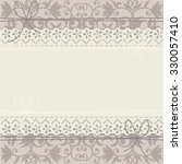 lace frame on luxury floral... | Shutterstock .eps vector #330057410