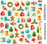 seamless winter pattern with... | Shutterstock . vector #330059654