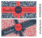 vector gift voucher with... | Shutterstock .eps vector #330060818