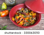moroccan tagine with lamb ... | Shutterstock . vector #330063050