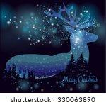 silhouette of a deer. inside... | Shutterstock .eps vector #330063890