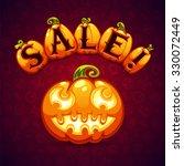 halloween pumpkin sale banner   Shutterstock .eps vector #330072449