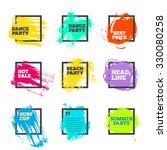 vector set of paint and square... | Shutterstock .eps vector #330080258