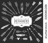 vintage decorative arrows and... | Shutterstock .eps vector #330080288