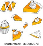hand drawn color vector ... | Shutterstock .eps vector #330082073