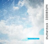 abstract geometric polygonal... | Shutterstock .eps vector #330085694