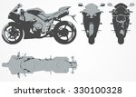 front  top  back and side... | Shutterstock .eps vector #330100328