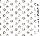 cute cartoon cats pattern. | Shutterstock .eps vector #330103190