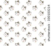 cute cartoon cats pattern. | Shutterstock .eps vector #330103214