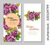 vintage delicate invitation... | Shutterstock .eps vector #330109799
