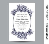 vintage delicate invitation... | Shutterstock .eps vector #330110183