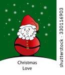 santa   christmas love | Shutterstock . vector #330116903