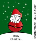 santa   merry christmas | Shutterstock . vector #330116909