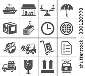 shipping icons | Shutterstock .eps vector #330120998