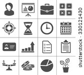 business icons | Shutterstock .eps vector #330121430