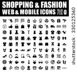 shopping and fashion icons | Shutterstock .eps vector #330125360