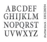 black vintage vector font. | Shutterstock .eps vector #330128054