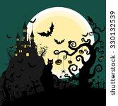 halloween background vector   Shutterstock .eps vector #330132539