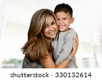mother and son who are playing... | Shutterstock . vector #330132614