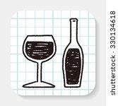 doodle wine | Shutterstock . vector #330134618
