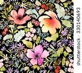 seamless spring pattern.... | Shutterstock . vector #330140693