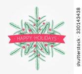 vector happy holidays card with ...   Shutterstock .eps vector #330143438
