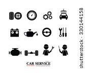 mechanic and car maintenance... | Shutterstock .eps vector #330144158