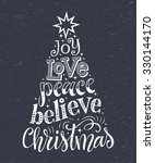 vector christmas tree of... | Shutterstock .eps vector #330144170